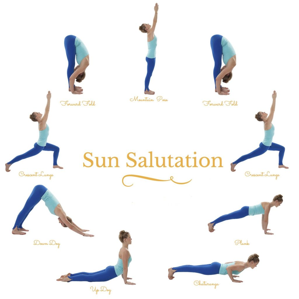 Start your day with yoga here is how to do sun salutation sun salutation yoga kristyandbryce Images